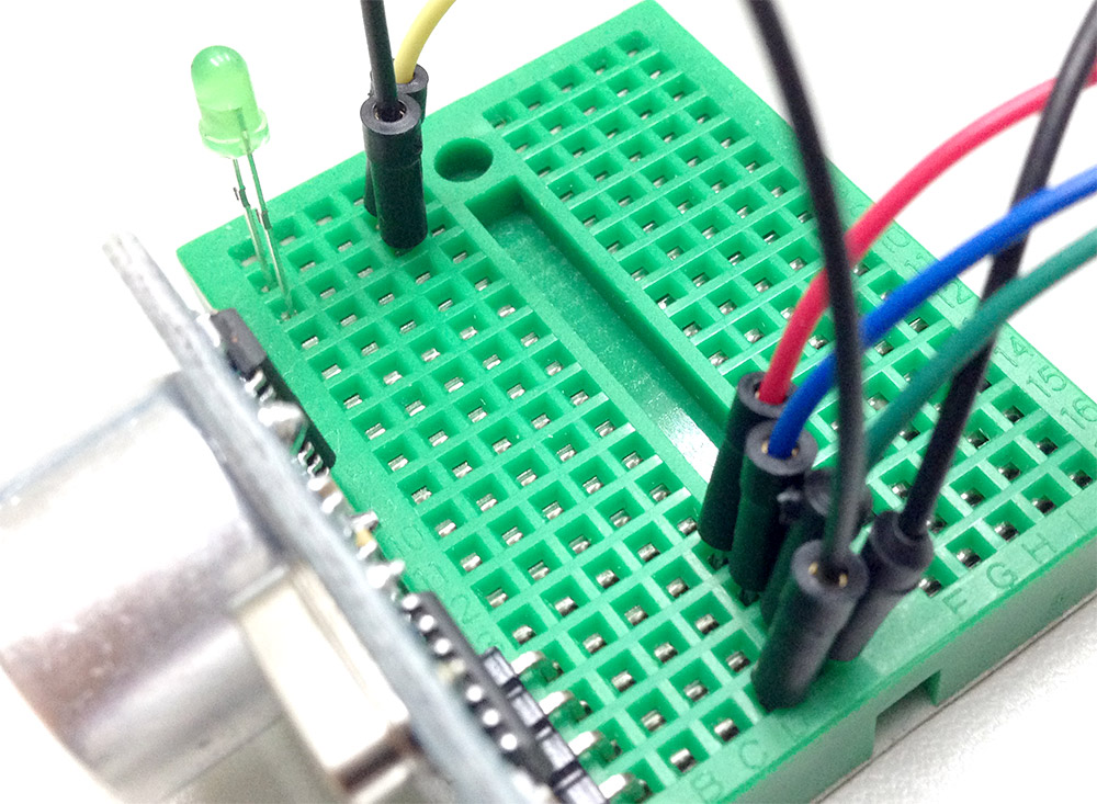 Project Example 7  Controlling Leds With An Ultrasonic